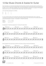 12 Bar Blues Chords & Scales for Guitar